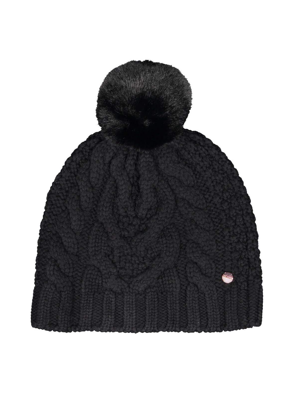 382d76adcc4 Black (musta) Ted Baker Quirsa Cable Knit Pom Hat -pipo 01-151766 ...