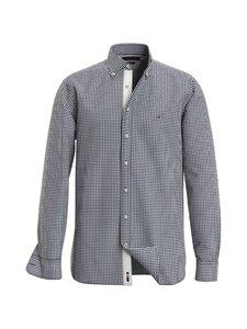 Tommy Hilfiger - Cotton Cashmere Chk Dobby Shirt -kauluspaita - 0MU CARBON NAVY / WHITE | Stockmann