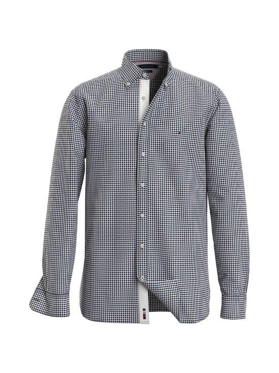 Tommy Hilfiger - Cotton Cashmere Chk Dobby Shirt -kauluspaita - 0MU CARBON NAVY / WHITE | Stockmann - photo 1