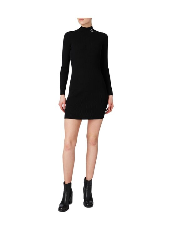 Calvin Klein Jeans - Roll Neck Sweater Dress -mekko - BEH CK BLACK / BLACK | Stockmann - photo 4