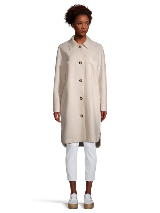 Marc O'Polo - Boiled wool shirt coat -takki - 132 NATURAL WHITE   Stockmann - photo 2