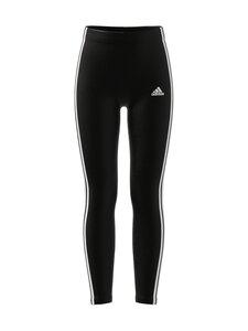 adidas Performance - ESSENTIALS 3 STRIPES -leggings - BLACK/WHITE | Stockmann