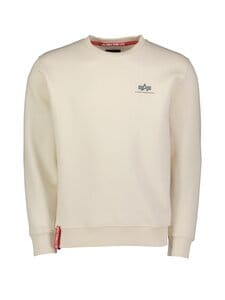 Alpha Industries - Basic Sweater -collegepaita - 578 JET STREAM WHITE | Stockmann