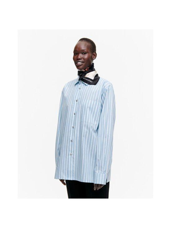 Marimekko - Josina Kaksoset -silkkihuivi - 189 OFF WHITE, BROWN, BLACK | Stockmann - photo 2