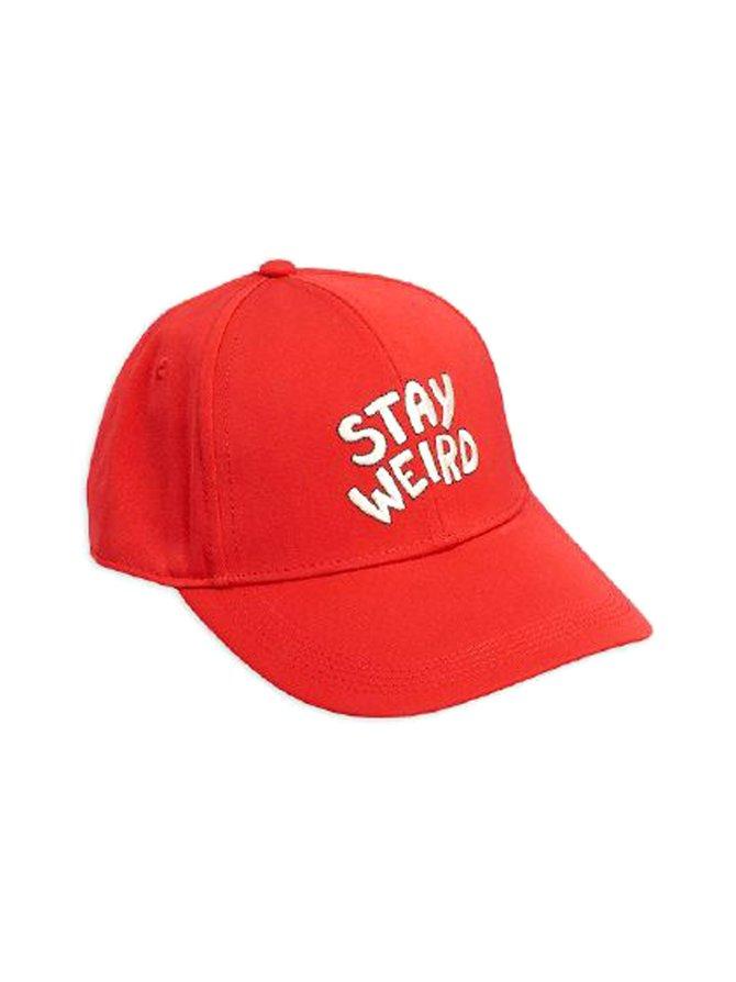 Stay Weird Embroidery Cap -lippalakki