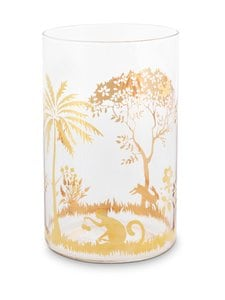 PIP Studio - La Majorelle Longdrink Glass -lasi 360 ml - TRANSPARENT WITH GOLD RIM PICTURES | Stockmann