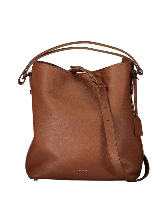 Balmuir - Eyleen Bucket Bag -nahkalaukku - COGNAC/GOLD | Stockmann - photo 1