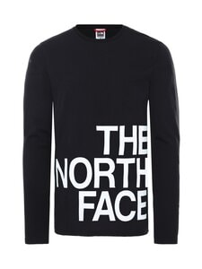 The North Face - M LS Graphic Flow -paita - KY41 TNF BLACK/TNF WHITE | Stockmann