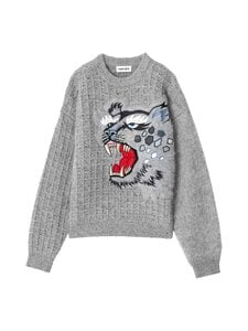 Kenzo - Embroidered Jumper -neule - 95 DOVE GREY | Stockmann