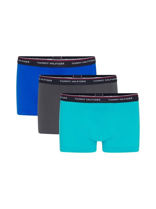 Tommy Hilfiger - Bokserit 3-pack - 0SQ AQUATIC TEAL/DARK ASH/ELECTRIC BLUE | Stockmann - photo 1