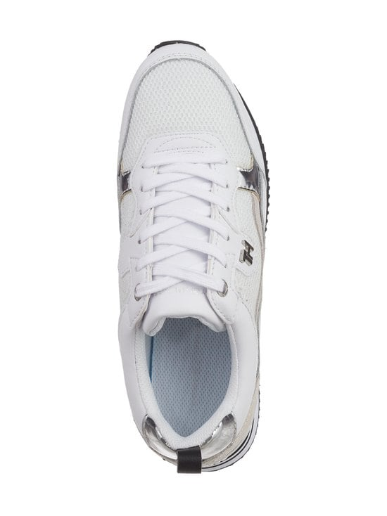 Tommy Hilfiger - Active City Mixed Panel -sneakerit - 0K8 WHITE/ SILVER | Stockmann - photo 2
