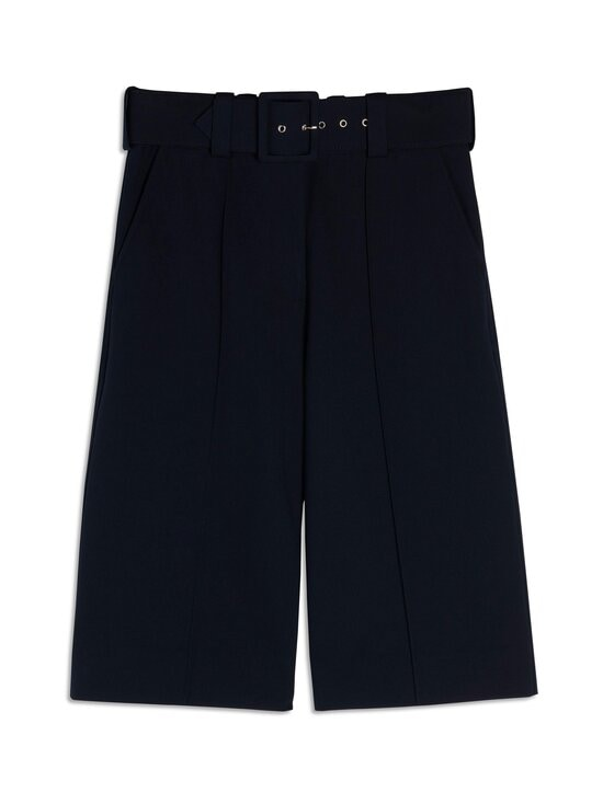 Belted Jersey Culottes -housut
