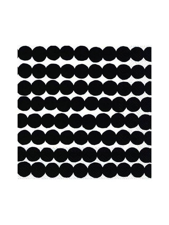 Marimekko - Räsymatto-servetti 25 x 25 cm - MUSTAVALKOINEN | Stockmann - photo 1