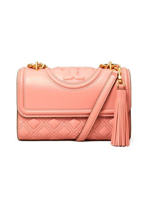 Tory Burch - Fleming Small Convertible Shoulder Bag -nahkalaukku - 651 PINK MAGNOLIA | Stockmann - photo 1