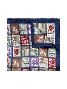 Eton - Square Postage -silkkitaskuliina - 25 BLUE | Stockmann