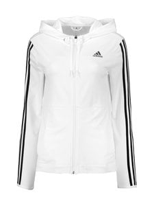 adidas Performance - 3-Stripes Full Zip Hoody -huppari - WHITE WHITE | Stockmann