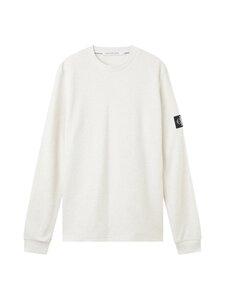 Calvin Klein Jeans - MONOGRAM BADGE WAFFLE LS TEE -collegepaita - AET WHITE GREY HEATHER   Stockmann