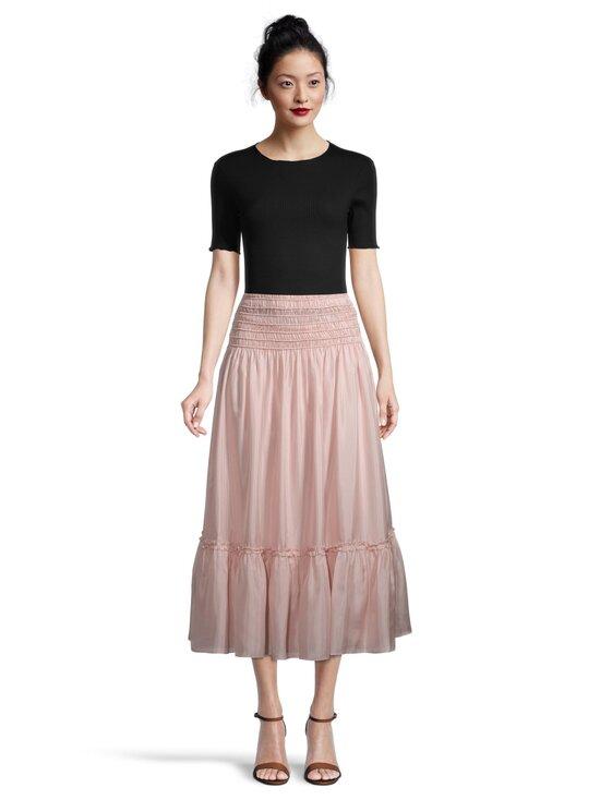 Tory Burch - Corded Skirt -silkkihame - 654 ICED PINK | Stockmann - photo 2