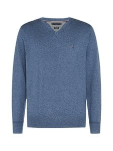 Tommy Hilfiger - Pima Cotton Cashmere V-neck -neulepaita - DV1 FADED INDIGO HEATHER | Stockmann