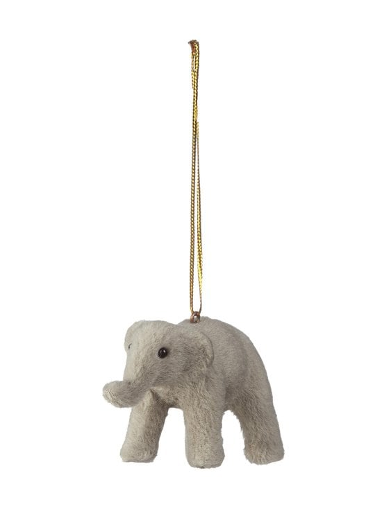 Casa Stockmann - Faux Fur Elephant -joulukoriste 8 x 3 x 4,7 cm - GREY | Stockmann - photo 1
