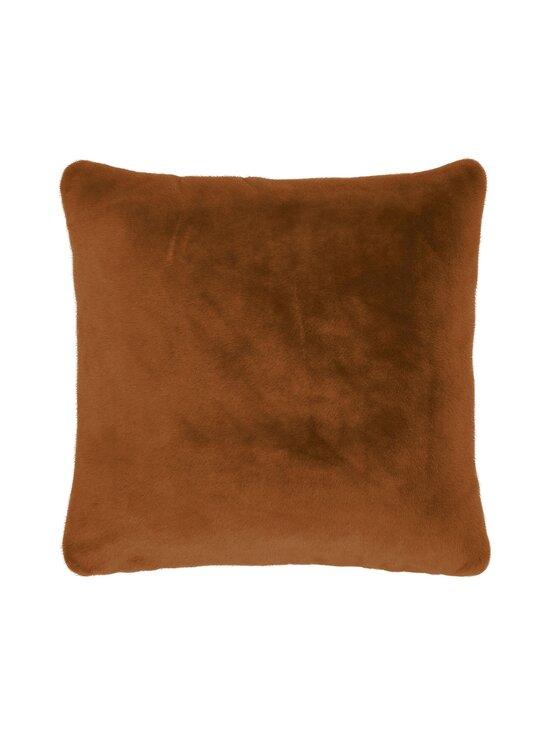 Essenza - Furry Cushion -koristetyyny 50 x 50 cm - LEATHER BROWN | Stockmann - photo 1
