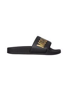 Moschino - Pool Slide -sandaalit - BLACK/GOLD PRINT | Stockmann