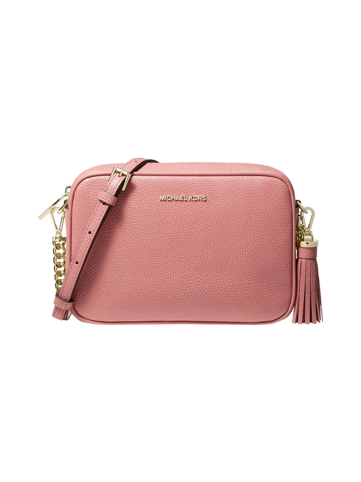 aacec7df9eea2 Rose Michael Michael Kors Ginny Medium Pebbled Leather Camera Bag ...