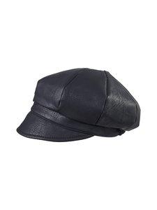KN Collection - Victoria Fake Leather Cap -lakki - BLACK 33 | Stockmann