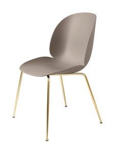 Gubi - Beetle-tuoli - BRASS SEMI MATT BASE, NEW BEIGE, PLASTIC GLIDES | Stockmann