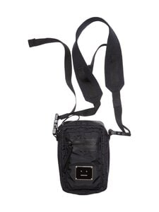 Acne Studios - Logo Plaque Pocket Bag -laukku - BLACK | Stockmann