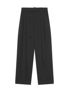 Ganni - Heavy Crepe trousers -housut - 099 BLACK | Stockmann