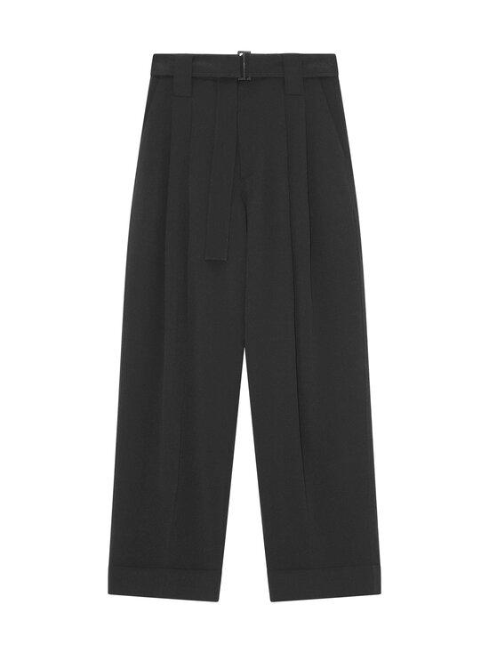 Ganni - Heavy Crepe trousers -housut - 099 BLACK   Stockmann - photo 1