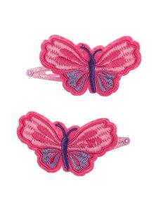 Hatley - Pretty Butterflies -hiusklipsi 2 kpl - PINK | Stockmann