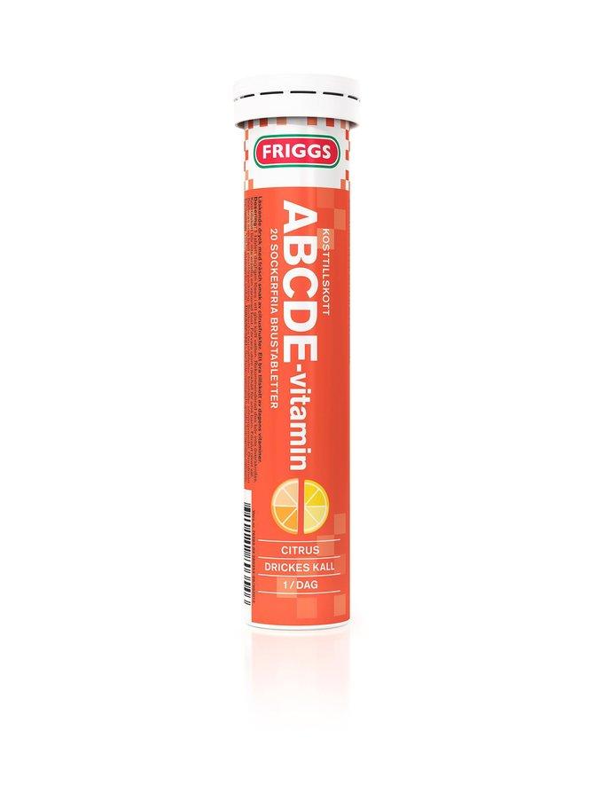 ABCDE-Vitamin-poretabletti, ravintolisä 20 tabl.