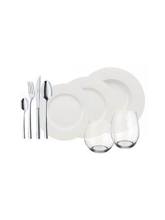 Wonderful World of White tableware, 36 parts