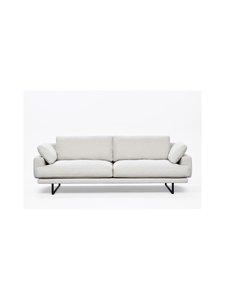 Interface - Rex-sohva 240 cm - NATURAL WHITE FABRIC CREDO 02: BLACK METAL LEGS | Stockmann