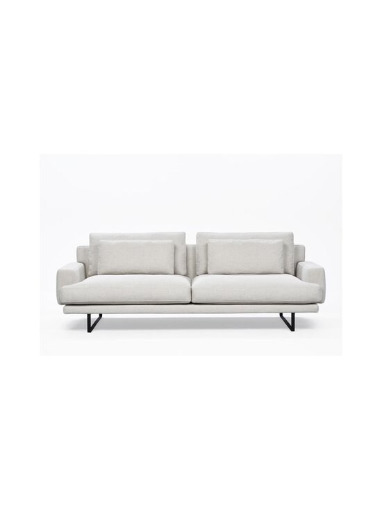 Interface - Rex-sohva 240 cm - NATURAL WHITE FABRIC CREDO 02: BLACK METAL LEGS   Stockmann - photo 2