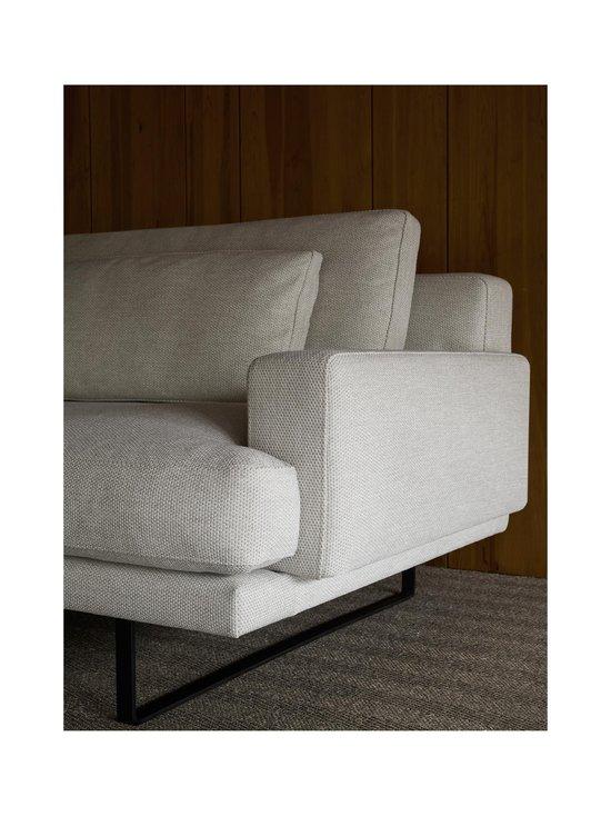 Interface - Rex-sohva 240 cm - NATURAL WHITE FABRIC CREDO 02: BLACK METAL LEGS   Stockmann - photo 4