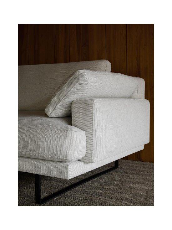 Interface - Rex-sohva 240 cm - NATURAL WHITE FABRIC CREDO 02: BLACK METAL LEGS   Stockmann - photo 5