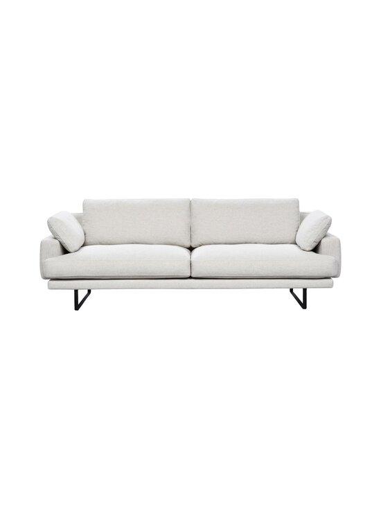 Interface - Rex-sohva 240 cm - NATURAL WHITE FABRIC CREDO 02: BLACK METAL LEGS   Stockmann - photo 1