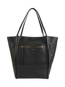 Ted Baker London - Cammila Zip Detail Large Shopper -nahkalaukku - BLACK   Stockmann