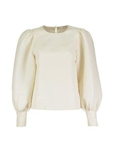 NA-KD - Structured Big Puff Sleeve -pusero - OFF WHITE | Stockmann