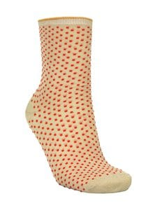 Becksöndergaard - Dina Small Dots -sukat - 690 RED LOVE | Stockmann