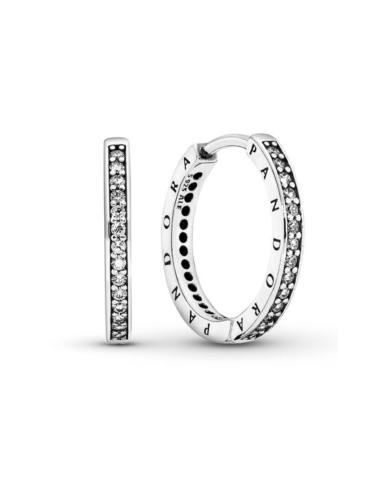 Pandora - Logo Silver Hoop -korvakorut - SILVER   Stockmann - photo 1
