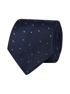 Tommy Hilfiger Tailored - Dot Silk Blend Tie -silkkisekoitesolmio - 0ZU NAVY/GREEN | Stockmann