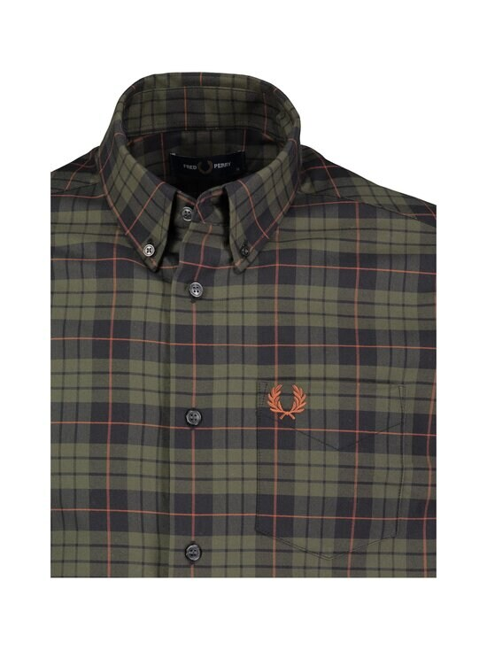 Fred Perry - Brushed Oxford Tartan -paita - 617 FOREST NIGHT | Stockmann - photo 3