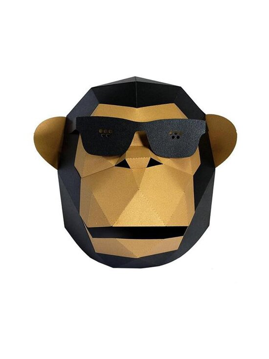 Papercraft World - GOLD Sun-Glass Gorilla Mask -naamari - GOLD | Stockmann - photo 2