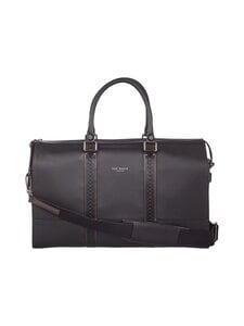 Ted Baker London - Topped Brogue Holdall -nahkalaukku - 00 BLACK | Stockmann