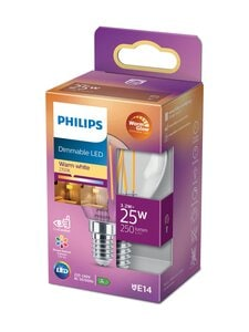 Philips - LED Candle 25W E14 Warm Glow Dimming -lamppu - WHITE | Stockmann