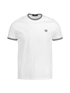 Fred Perry - Twin Tipped T-shirt -paita - 100 WHITE | Stockmann